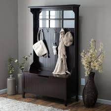 Hall Bench And Coat Rack Classy Hall Tree Cherry Brilliant Best Entryway Images On Storage Benches