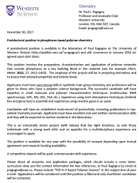 Cover Letter For Postdoc Position In Chemistry Cover
