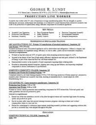Best Ideas of Sample Resume For Assembly Line Worker For Sheets