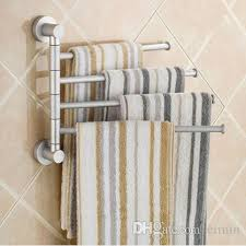 Bath towel hanger Holders Bathroom Cheap Sanitary Towel Rack Best Wall Towel Racks Dhgatecom Aluminium Towel Rack Swivel Bars Rotary Bar Wallmounted Bath