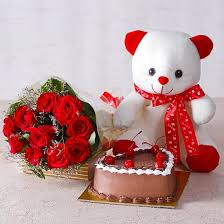 white teddy bears with hearts and roses. Plain White Buy Ten Red Roses With Teddy Bear And Heart Shape Chocolate Cake Online At  Best Price In India  INSITY And White Bears With Hearts T