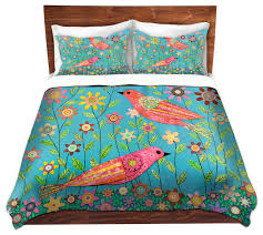 dianoche duvet covers twill bohemian birds contemporary duvet covers and duvet