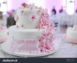 Child Birthday White Cake Pink Floral Stock Photo Edit Now
