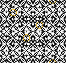 Vector modern seamless colorful pattern overlapping circles color