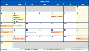 Wincalendar Com Printable Calendar June 2019 Calendar With Holidays Printable Year Calendar