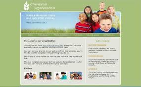 Free Charity Green Psd Css Website Template