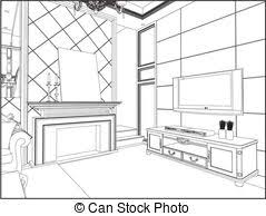 living room clipart black and white. living room vector clipart black and white