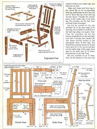 587 contemporary dining chair plans furniture plans and projects