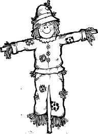 Small Picture Fall Scarecrow Coloring Page Wecoloringpage