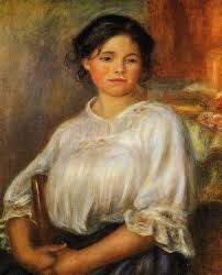 young woman seated by pierre auguste renoir painting ysis large resolution images user comments slideshow and much more