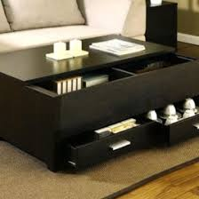 Wonderful Black Coffee Table With Storage Tables Designs Dreamer E Intended Modern Ideas