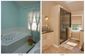 bathroom remodel before and after. Comfort Bathroom Remodel Before And After Then Medium Home Regarding Property E