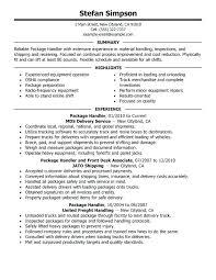 call center supervisor resume objective package handler job description us  postal sample summary highlights