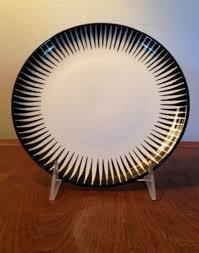mid century upsala ekeby zebra plate studio art pottery cathrineholm jhq dansk ebay