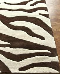 brown zebra print area rug black and white animal print area rugs