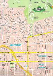 large hollywood ca maps for free download and print  high