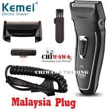 【Malaysia Plug】<b>KEMEI Professional Rechargeable Electric</b> Hair ...