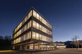 sustainable office building. Download Huge Wooden Timber Sustainable Office Building Stock Photo - Image Of Engineering, Illuminated: R