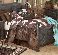 lone star western decor high plains cowhide cowboy bed set queen rustic bedding linens