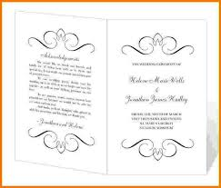 Wedding Program Templates Free Word Program Templates Word Barca Fontanacountryinn Com