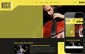 Music Website Templates Simple Music 28 A Entertainment Category Flat Bootstrap Responsive Web