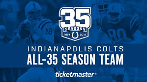 Indianapolis Colts Depth Chart 2018 Indianapolis Colts All 35 Season Team Second Team