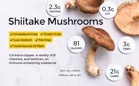 shiitake mushrooms nutrition facts and health benefits