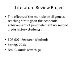Importance of literature review ppt StudyBlue My