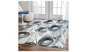 cream peacock rug luxury 5x8 teal blue 8x11 area rugs