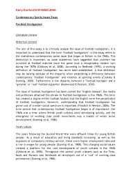 csi essay   football hooliganism harry dunfordqlei contemporary sports issues essay football hooliganism literature review historical context