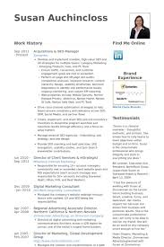 Acquisitions & Seo Manager Resume samples
