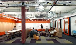 studio oa office common. Lounge / Group Meeting Area At Microsoft. Great Contrast From Bright Red Painted Walls And Studio Oa Office Common R