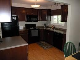 Oak Cabinets Quartz Countertops White Cupboards With Appliances Dark