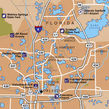 orlando sanford international airport airport maps maps and Map Of Orlando Area orlando area map map of orlando area zip codes