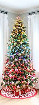 A Colorful Christmas Tree Idea! #gradient #christmas #tree I like this and