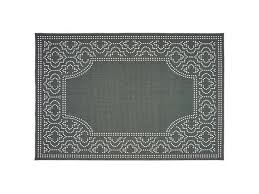 oriental weavers m1247x240rdst marina indoor outdoor outdoor border round rug grey 7 ft 10 in x 7 ft 10 in
