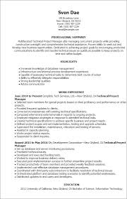 1 Technical Project Manager Resume Templates Try Them Now