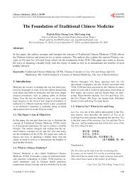 Pdf The Foundation Of Traditional Chinese Medicine
