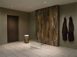 Small Picture Grey and white streaked natural stone effect bathroom wall panels
