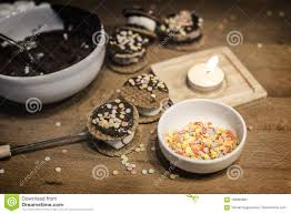 Candle Light Bakery Cooking Bakery From Mush Mellow Cookies Bakery Stock Photo