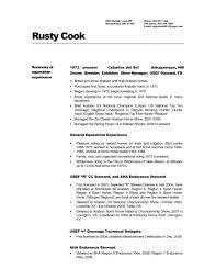 Cook Supervisor Cover Letter Resume Templates Assistant Line