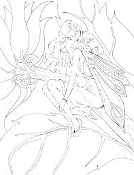 Free Printable Gothic Fairy Coloring Pages Goth Fairy Coloring Pages