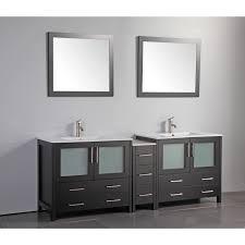vanity art 84 inch double sink bathroom vanity set with ceramic top free today 12609926