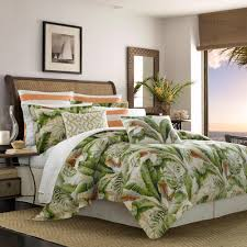 tommy bahama palmiers 3 piece green king duvet cover set