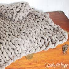 Arm Knit Blanket Pattern New Chunky Arm Knitted Blanket AllFreeKnitting