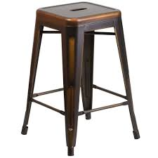 flash furniture etbtcopgg distressed copper stackable