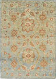 light blue cream area rug area rugs one of a kind mart hand knotted 11 9
