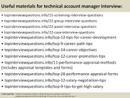 Interview Questions For Account Managers Top 10 Technical Account Manager Interview Questions And Answers