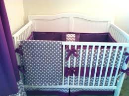 ideas purple crib bedding sets baby and grey