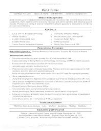 Resume For Medical Biller Skinalluremedspa Com
